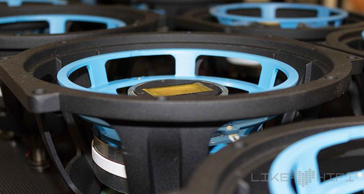 Das Chassis mit eingebauten JET-Hochtöner
