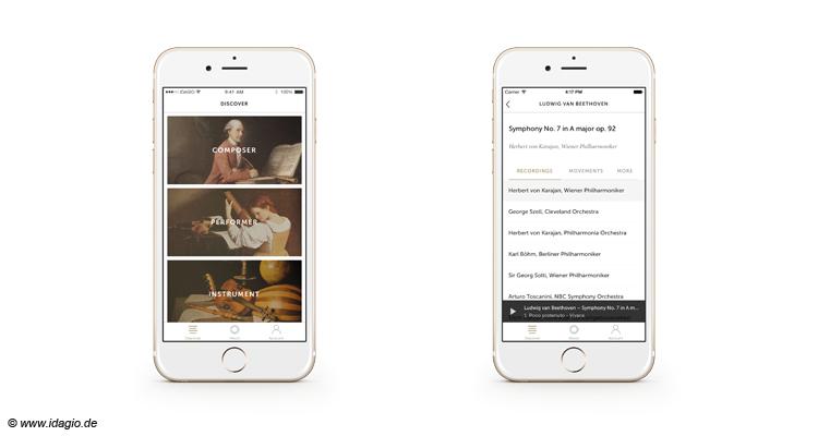 Idagio iOS-App