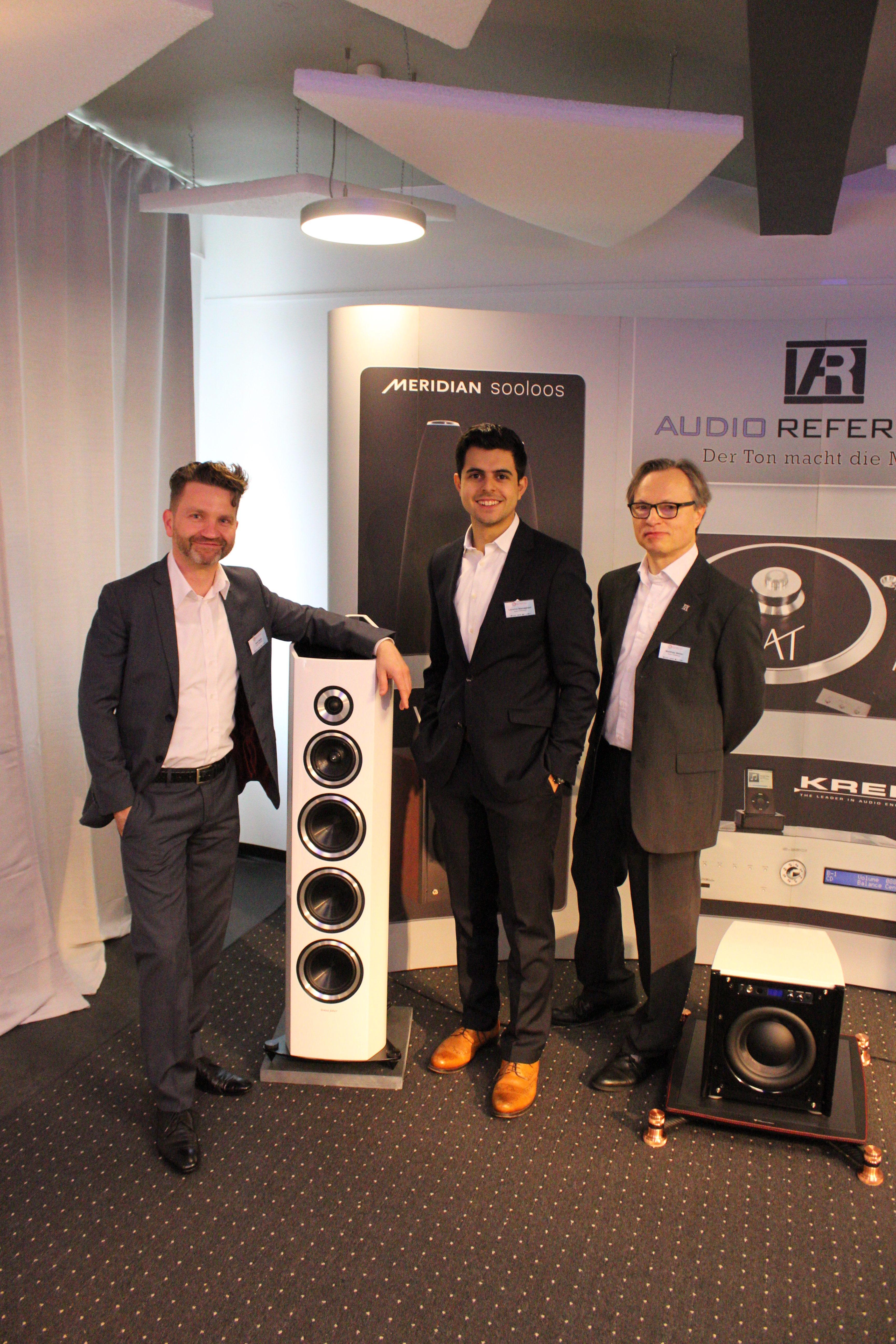 Das Team von Audio Reference brachte die Sonus Faber Venere S mit nach Leipzig
