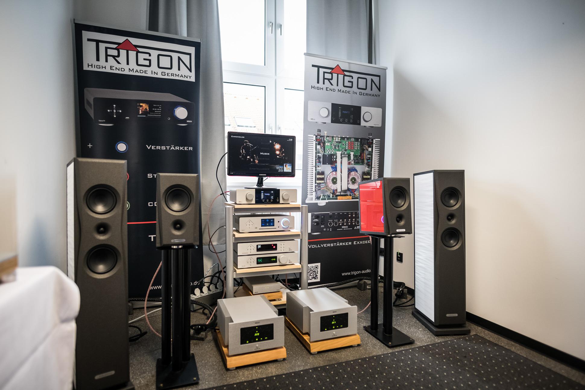 """Im Raum von """"the voice"""" aus Meerane spielte Trigon in einer Kette mit AudioSolutions Lautsprechern."""
