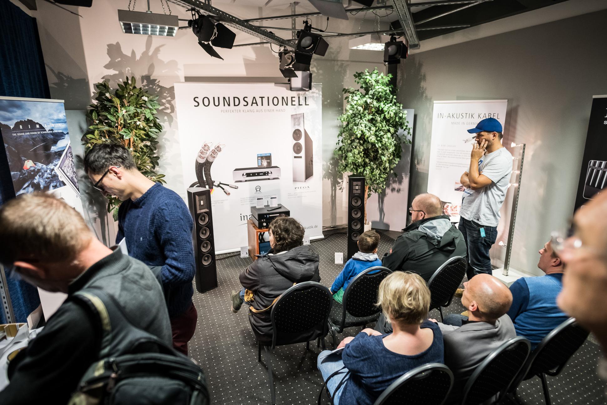 In-akustik stellte neben seinem Kabelportfolio auch die Neuheiten der Vertriebsmarken Piega und Primare vor.