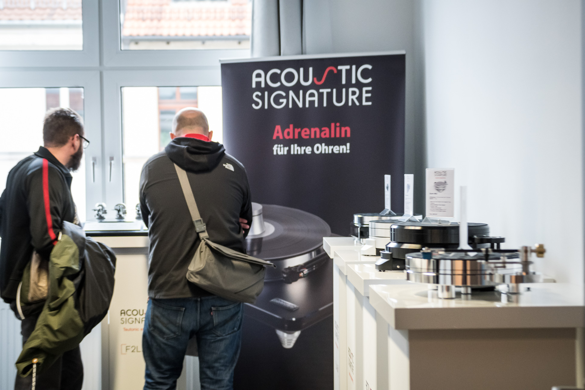 Schwäbisch Engineering: Acoustic Signature zeigte seine neuen Plattenspielermodelle.