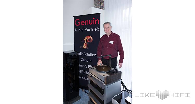 Thomas Wendt von Genuin Audio präsentierte den Prototyp vom Musikserver TARS für etwa 7.000-8.000 €.