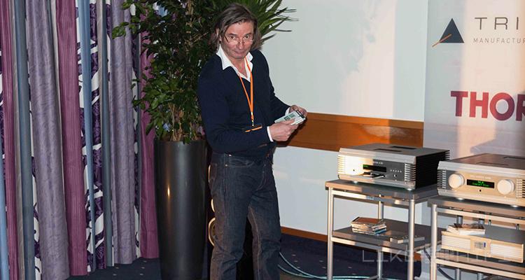 HiFi-Koryphäe Jürgen Reichmann präsentierte überzeugend die Signature Lautsprecher von Triangle in Kombination mit NuVista-Elektronik von Musical Fidelity.