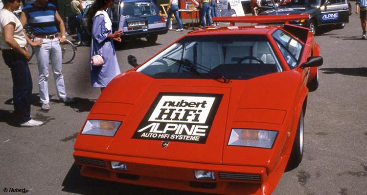 Nubert kann auch Car-Hifi: 1983 stattete man diesen Lamborgini aus
