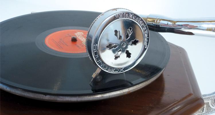 Tonarm-eines-Grammophons