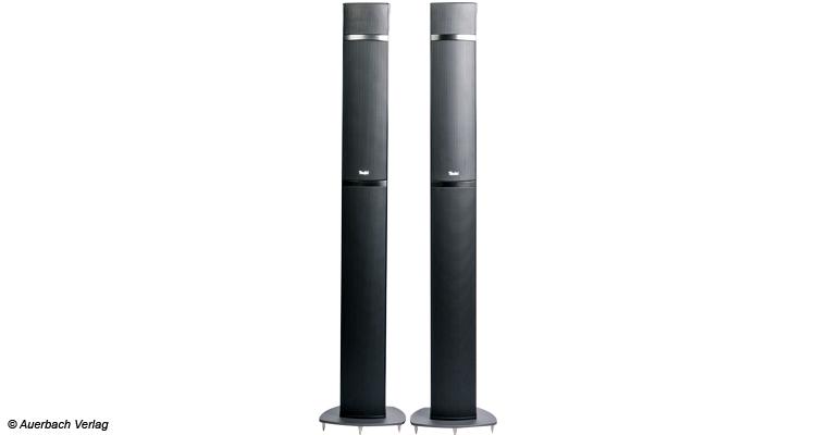 """Die Säulenlautsprecher LT 5A FR gleichen denen des """"alten"""" LT-5-Systems nur äußerlich. Wegen des Atmos-Speakers wurden sie neu konzipiert"""