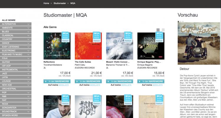 Neues Tonformat: MQA erstmalig bei HIGHRESAUDIO - likehifi ...