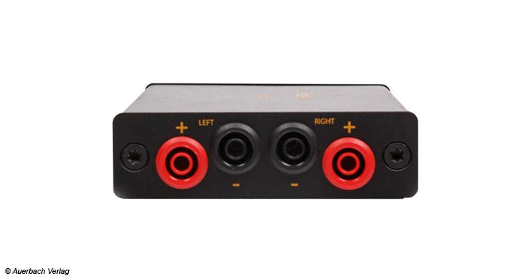 Der Empfänger mit Verstärker ist für passive Lautsprecher geeignet