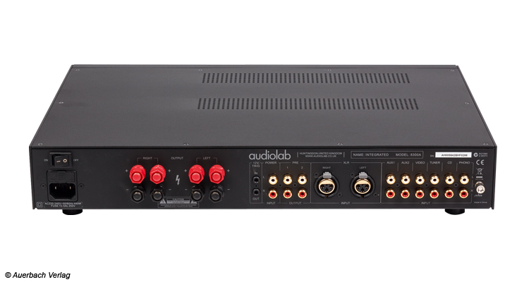 Test Audiolab 8300A Vollverstärker und 8300CD CD-Player Amp Review Back