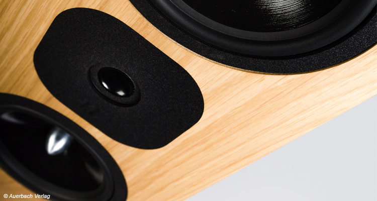 Die Mittel-Hochton-Fraktion ist in D'Appolito-Anordnung eingebaut, was zu einem gebündelteren Abstrahlverhalten und im Stereoverbund zu guter Ortung führt