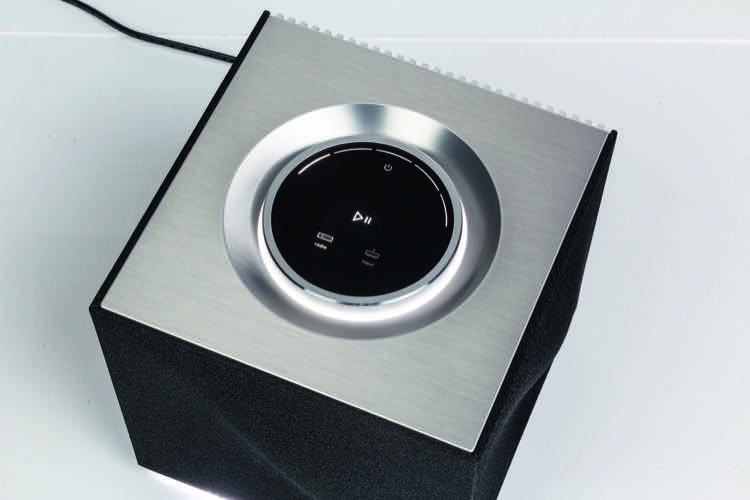 Naim Mu-so Qb Wireless-Musiksystem Lautstärkeregler