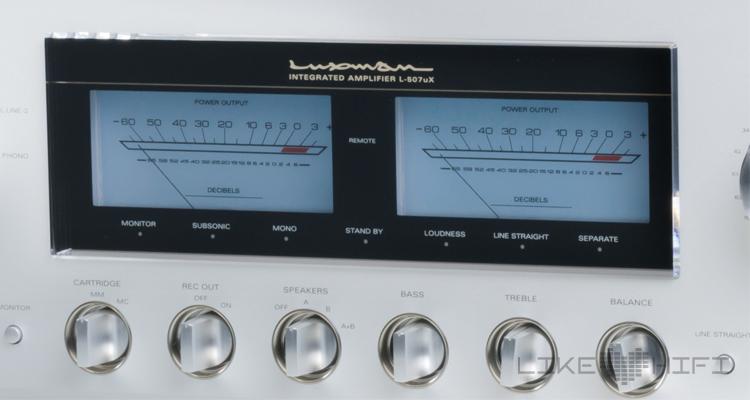 Test: Luxman D-05u SACD-Player & L-507uX Stereovollverstärker Review Amp VU Meter