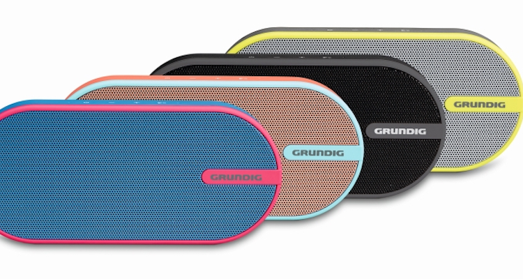 grundig bluetooth speaker gsb 150 colour up your sound stereo streaming. Black Bedroom Furniture Sets. Home Design Ideas