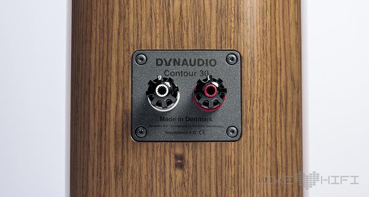 Dynaudio Contour 30 Standlautsprecher Test Review HiFi High End Speaker Lautsprecher Anschlüsse Rear Back