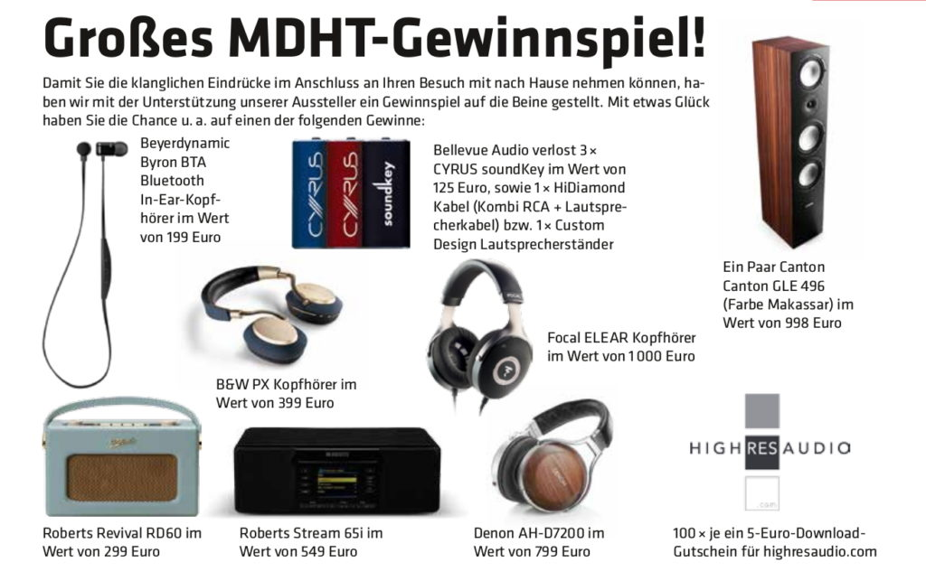 Mitteldeutsche HiFi-Tage 2017: Gewinner des Gewinnspiels ...