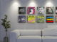 Magic Vinyl Display mit Schallplatten an der Wand