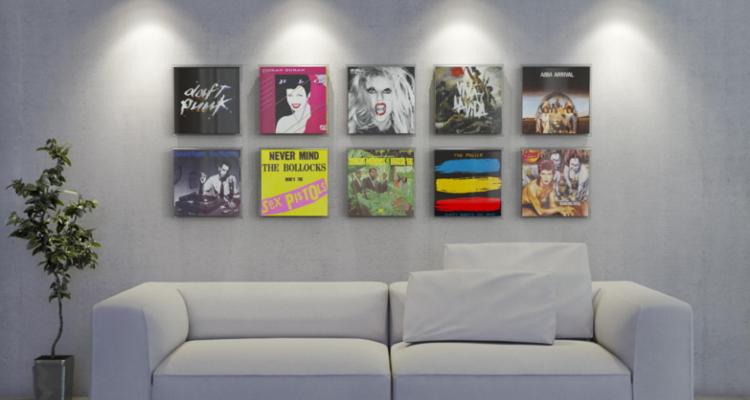 Neues gadget f r plattensammler zu kaufen magic vinyl display stereo - Schallplatten wand ...