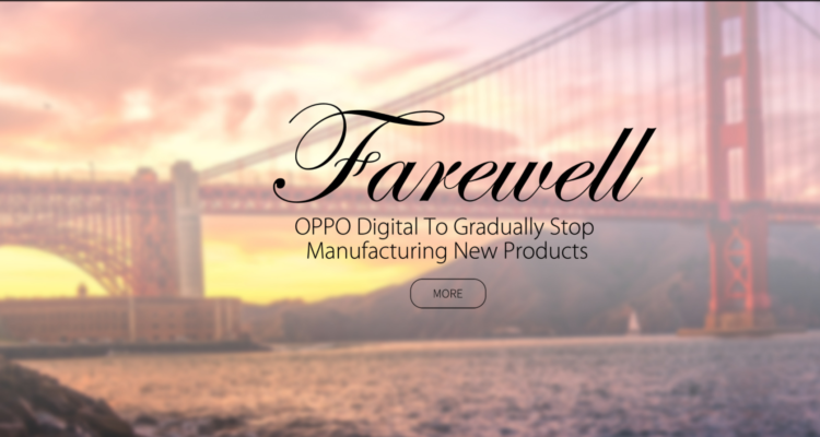 OPPO Digital verabschiedet sich