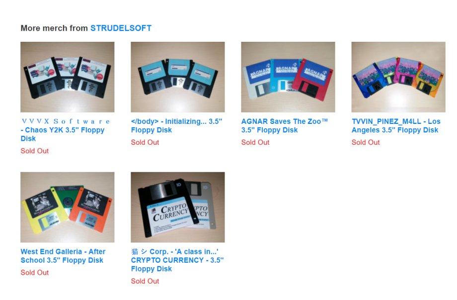 Musik auf Disketten - leider schon ausverkauft