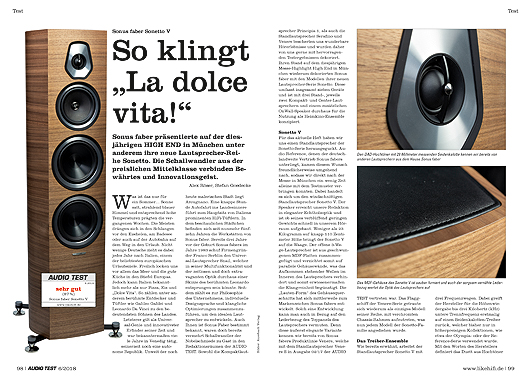 AUDIO TEST Sonus faber Sonetto V Test