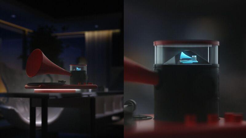 Das Hologramm des Kozmophon im Detail