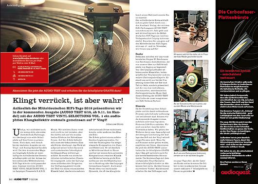 AUDIO TEST Magazin Vinyl-Beilage Schallplatte