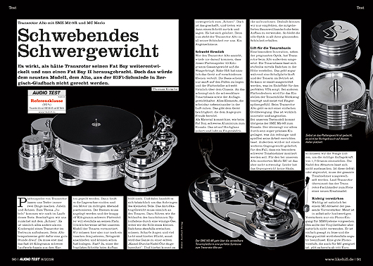AUDIO TEST Transrotor Alto Testbericht Review
