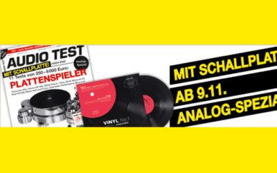 AUDIO TEST 08/2018 Schallplatte Vinyl Beilage