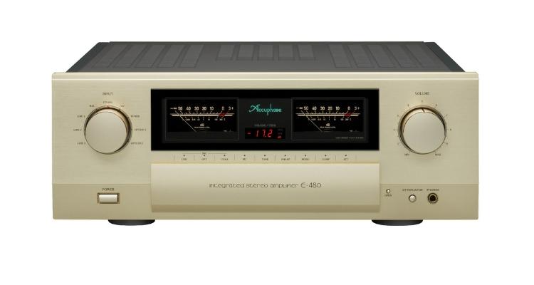 Front des Accuphase E-480 Verstärker Stereo-Vollverstärker INTEGRATED STEREO AMPLIFIER