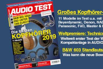 AUDIO TEST Ausgabe 01/19 Kopfhörer Test Spezial Technics B&W