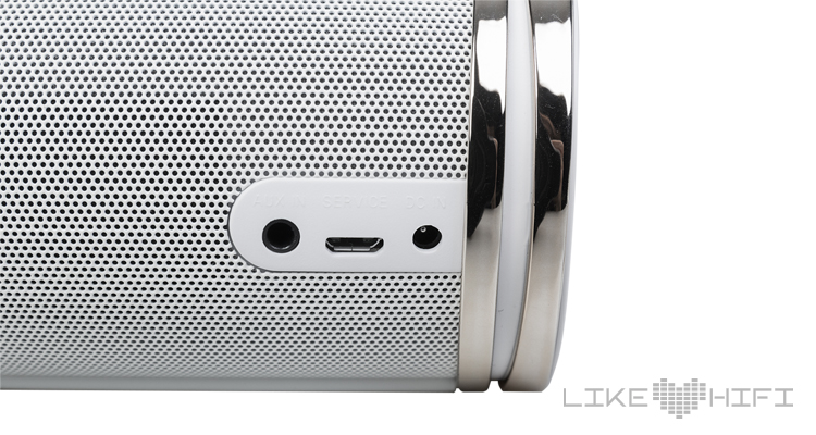 Anschlüsse auf der Rückseite des Cabasse Swell Bluetooth Lautsprecher Speaker
