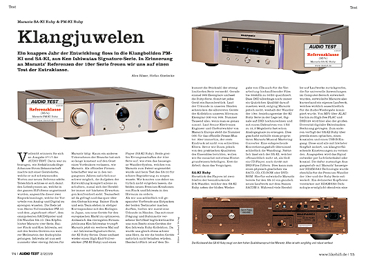 AUDIO TEST Marantz KI-Ruby Serie Test Review
