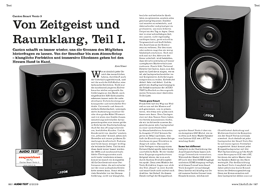 AUDIO TEST Canton Smart Vento 3 Review Aktivlautsprecher Regallautsprecher