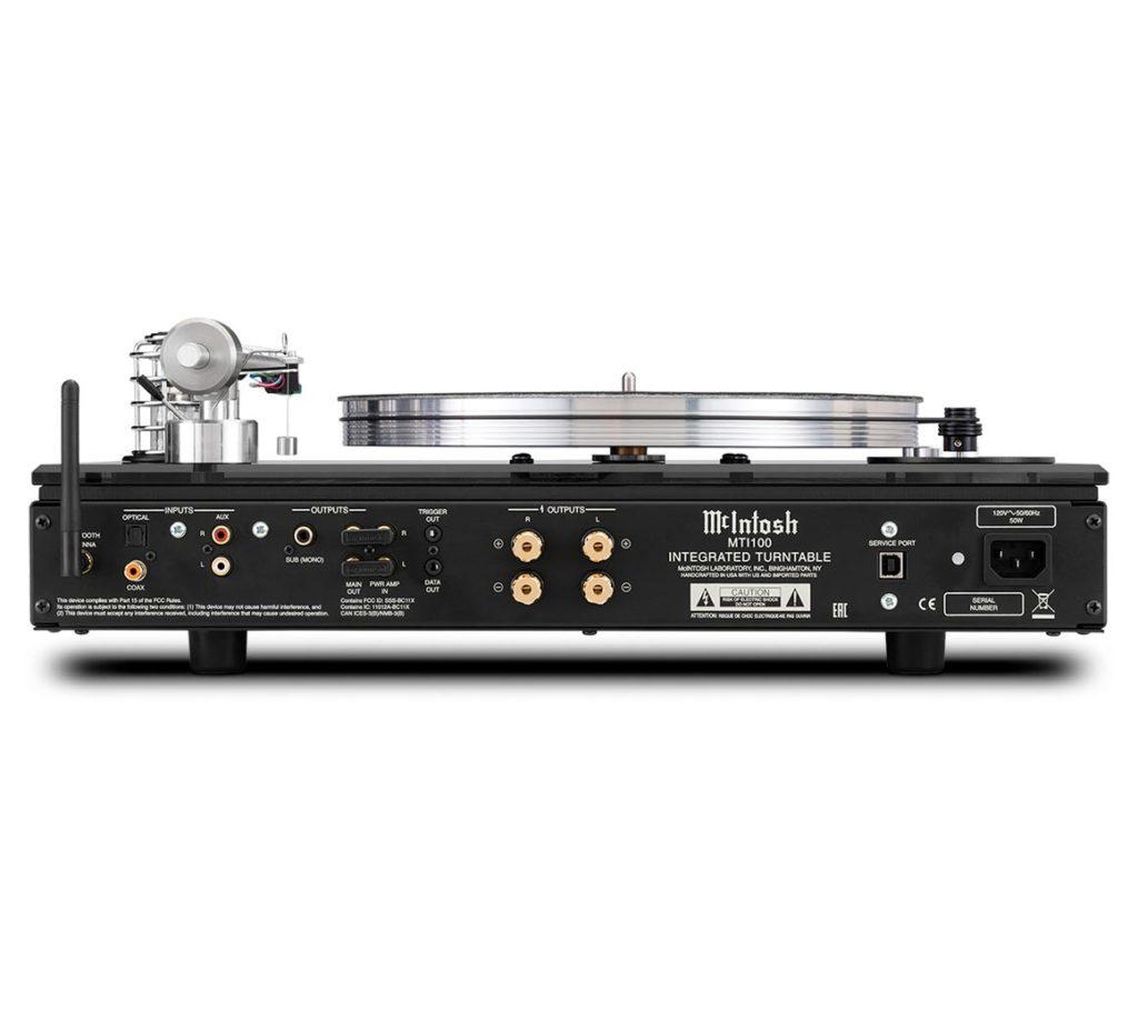 McIntosh MTI100 AC Rückseite Anschlüsse Back Turntable Plattenspieler