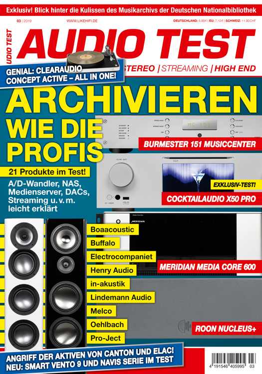 AUDIO TEST Titelbild 3/2019 Cover Kiosk