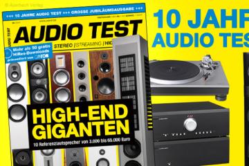 AUDIO TEST Titel 4/2019 Magazin Heft HiFi Spezial Jubiläum High End Highend Lautsprecher Technics Plattenspieler