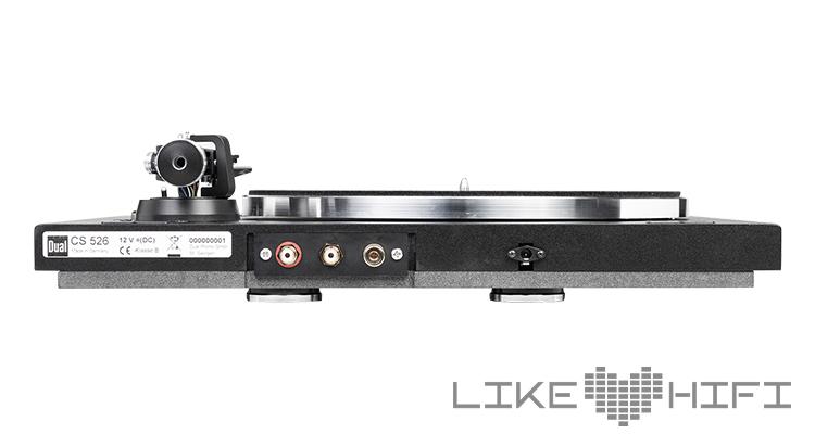 Anschlüsse des Dual CS 526 Plattenspieler Schallplattenspieler Test Review