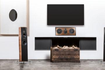 Sonus faber Palladio-Serie im Wohnzimmer Deckenlautsprecher Custom Installation Einbaulautsprecher