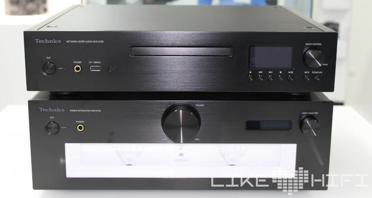 Technics Stereo-Vollverstärker SU-G700 und der Netzwerk-/Super Audio CD-Spieler SL-G700 schwarz black HiFi High End