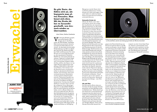 AUDIO TEST 05/19 - Test Dynaudio Evoke 50 Standlautsprecher Speaker Lautsprecher Review