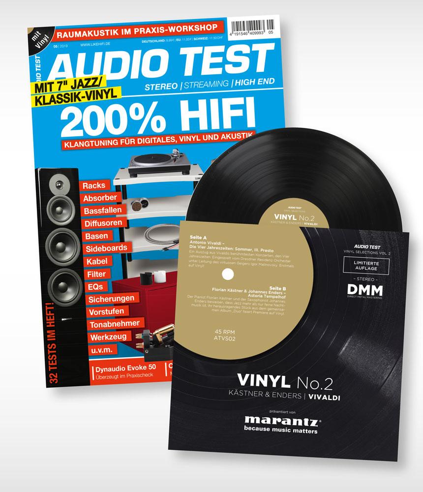 AUDIO TEST Ausgabe 5/19 Titelbild Cover Magazin Hifi Heft Highend Test Review Testmagazin Vinyl No. 2 Schallplatte
