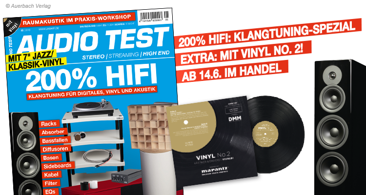 AUDIO TEST Titel 5/2019 Magazin Heft HiFi Spezial High End Lautsprecher Technics Plattenspieler Vinyl No. 2 Marantz
