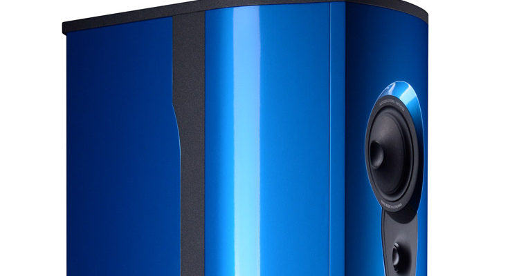 AudioSolutions Virtuoso M blue blau Lautsprecher Speaker High End Cottbus HiFi