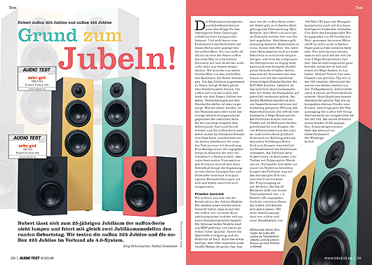 AUDIO TEST 6/19 - Nubert nuJubilee nubox 325 425 Home Cinema Surround Test Review