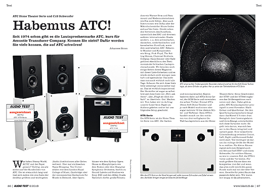 AUDIO TEST 6/19 - ATC HTS Serie Home Cinema Surround Set Subwoofer Test Review