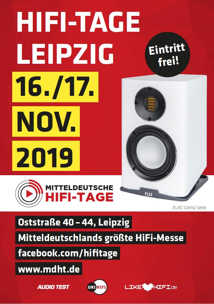 Mitteldeutsche HiFi-Tage 2019 MDHT Leipzig Messe Plakat Werbung Poster