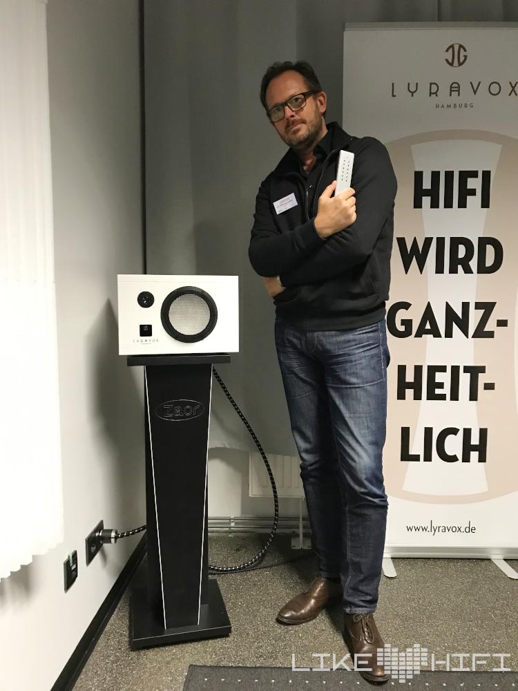 Mitteldeutsche HiFi Tage 2019 Lyravox Aktivlautsprecher Karlsson Götz Laffert Lautsprecher Vorführung HiFi Leipzig Kaufen