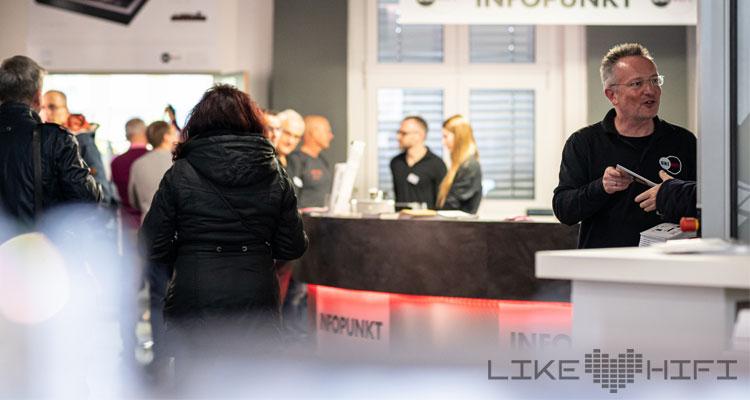 Einlass Empfang Eingang MDHT 2019 Mitteldeutsche HiFi Tage Leipzig