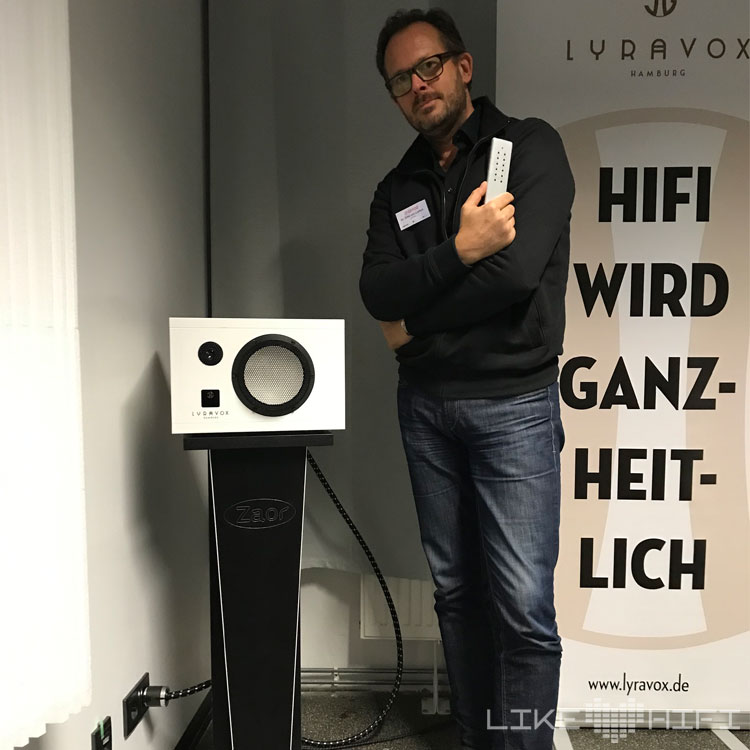 Lyravox Karlsson Götz Laffert Hamburg MDHT 2019 Mitteldeutsche HiFi Tage Leipzig Lautsprecher Aktiv High End